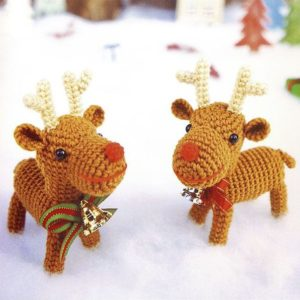 Christmas reindeers amigurumi