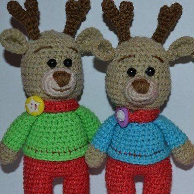 Crochet reindeer amigurumi pattern