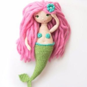 Amigurumi Mermaid crochet dol