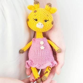 Giraffe amgurumi crochet toy pattern