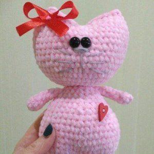 Kitty heart amigurumi pattern