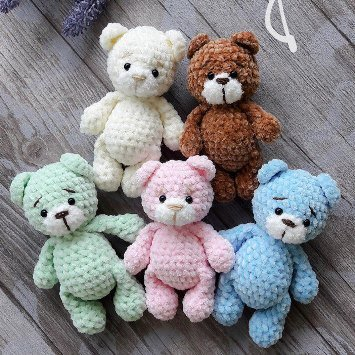 Crochet bear amigurumi | Crochet bear, Crochet patterns amigurumi ... | 355x355