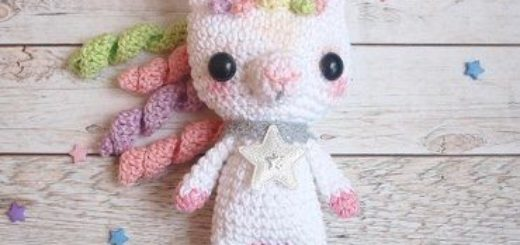Crochet unicorn amigurumi