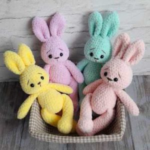 Crochet plush bunny