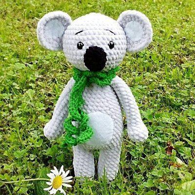 Plush koala amigurumi
