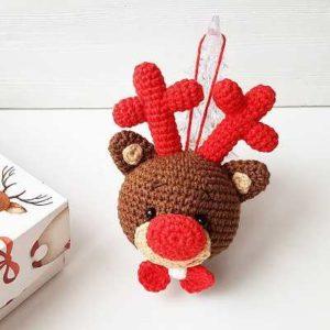 Christmas ornament crochet deer