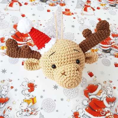 Christmas ornament crochet elk