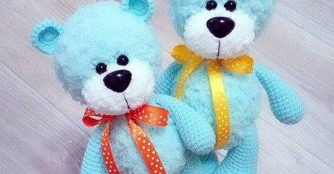 Amigurumi bear in pullover pattern - Amigurumi Today | 245x470