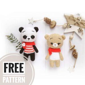 Crochet bear and panda amigurumi