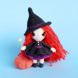 Crochet witch amigurumi