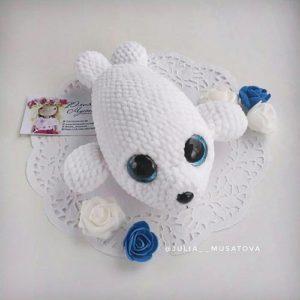 Crochet baby seal