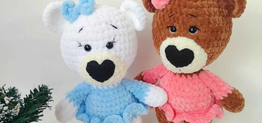 Bear crochet pattern, bee crochet pattern, crochet bear | Oso de ... | 245x520