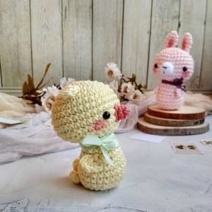 Crochet chick and bunny