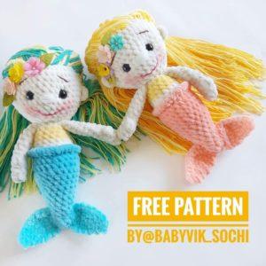 Amigurumi Mermaid doll