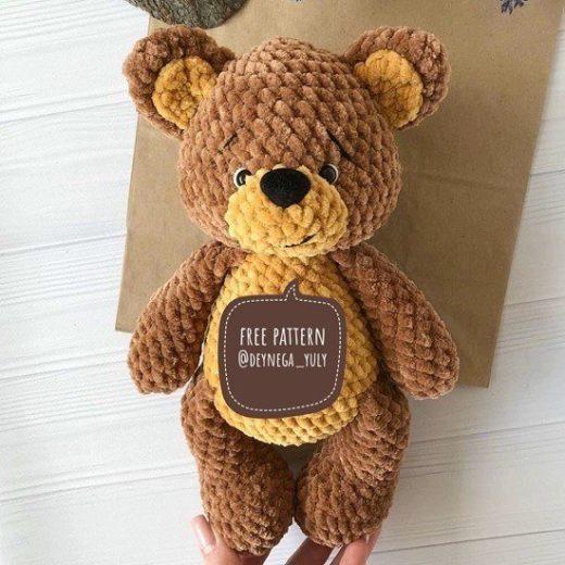 DIY Crochet Amigurumi Puppy Dog Stuffed Toy Free Patterns | Diy ... | 520x520