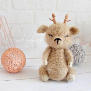 Crochet baby deer amigurumi