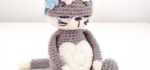 Tiny cat amigurumi, super easy and detailed animal toys, beginner ... | 245x520