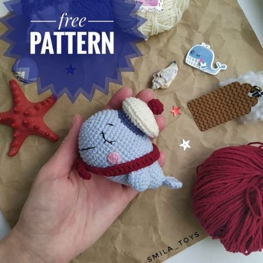 Amigurumi Crochet Sea Creature Animal Toy Free Patterns | Crochet ... | 520x520