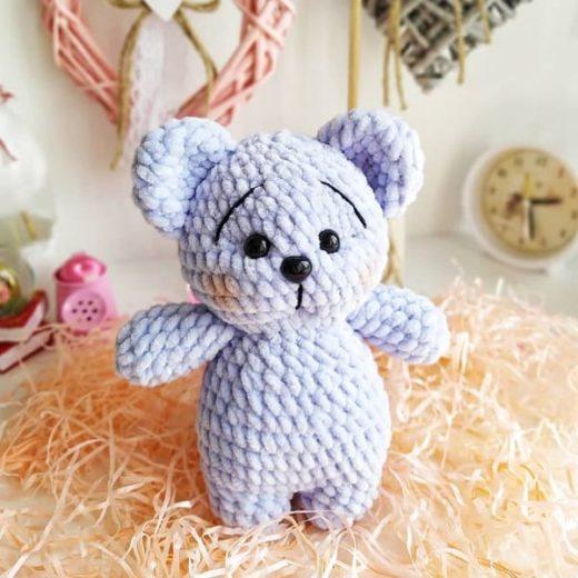 Crochet plush teddy bear