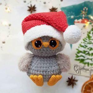 Christmas owl crochet pattern