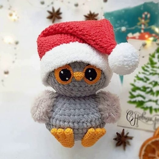 Christmas owl crochet pattern