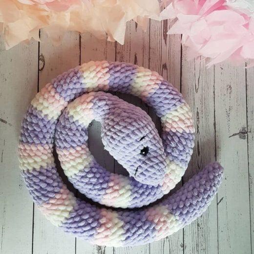 Crochet snake amigurumi
