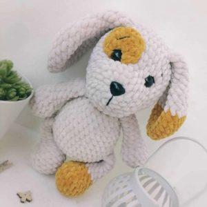 Crochet plush dog