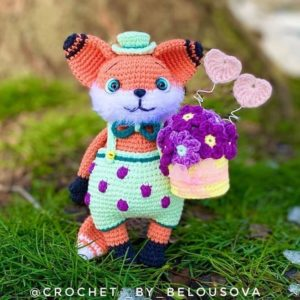 Mr. Darcy the crochet fox