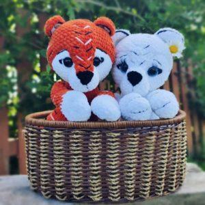 Crochet tiger cubs